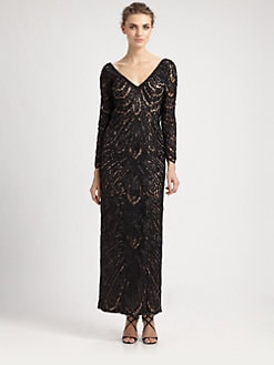 Sue Wong - Beaded Lace Gown