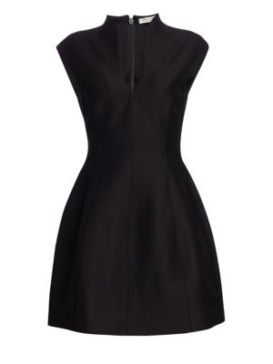 Cotton-Silk Structured Dress