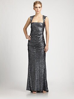 Nicole Miller - Sequined Felicity Gown