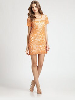 Candela - Sequined Mesh Dress