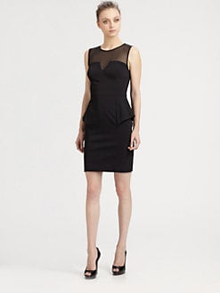 Aidan Mattox - Illusion Neckline Dress