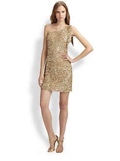 Aidan Mattox - One Shoulder Beaded Dress