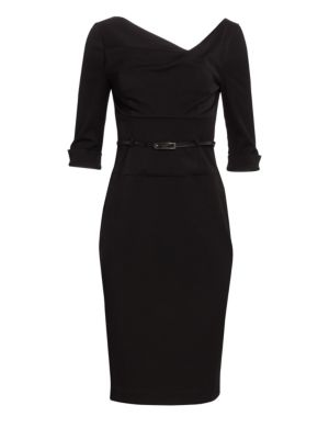 Jackie O. Three-Quarter Sleeve Dress