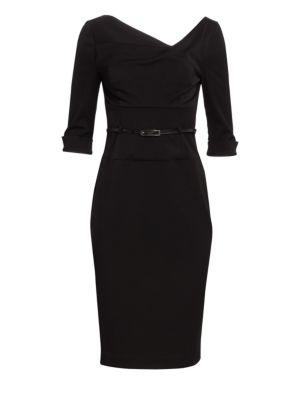 Jackie O. Three-Quarter Sleeve Dress