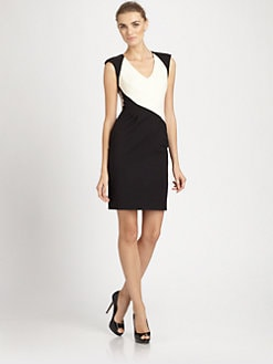 Black Halo - Jagger Colorblock Dress