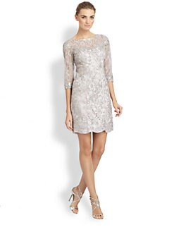 Sue Wong - Embroidered Lace Dress
