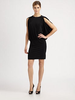 Nicole Miller - Stretch Matte Jersey Blouson Dress