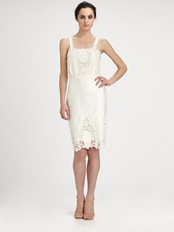 Rachel Roy - Cotton & Silk Lace-Detailed Dress