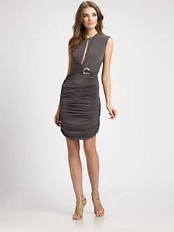 Halston Heritage - Front Slit Dress