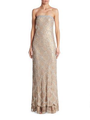 Boustieau Beaded Silk Gown