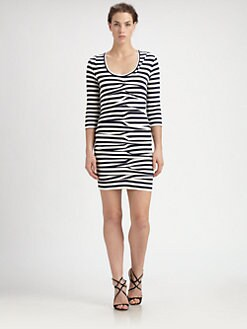 Nicole Miller - Striped Jersey Dress