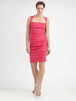 Nicole Miller - Stretch Linen Cutout Dress
