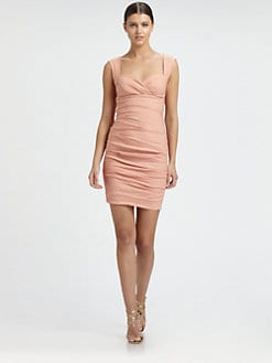 Nicole Miller - Sweetheart Tuck Dress