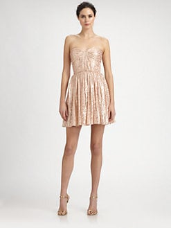 ERIN by Erin Fetherston - Shirred Silk Strapless Dress