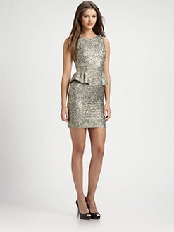ERIN by Erin Fetherston - Metallic Jacquard Dress