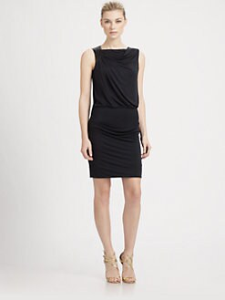Halston Heritage - Asymmetrical Draped Dress
