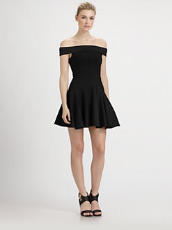 Halston Heritage - Off-The-Shoulder Ponte Dress