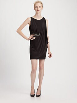 Aidan Mattox - Beaded Drape Dress