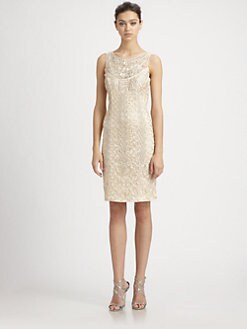 Sue Wong - Embroidered Champagne Dress