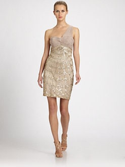 Sue Wong - One-Shoulder Beaded Dress