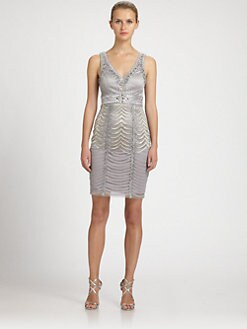 Sue Wong - Beaded V-Neck Dress