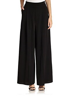 ABS - Pleated Palazzo Pants