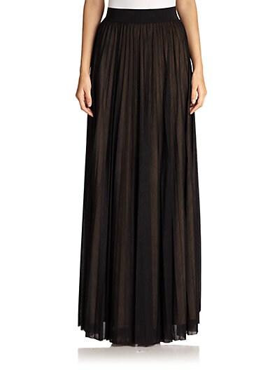 Sunburst Pleated Long Skirt $141.80 AT vintagedancer.com