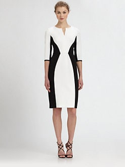 Black Halo - Two-Tone Sheath Dress