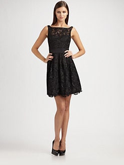 Aidan Mattox - Floral Lace Party Dress