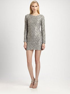 ABS - Sequined Illusion Dress