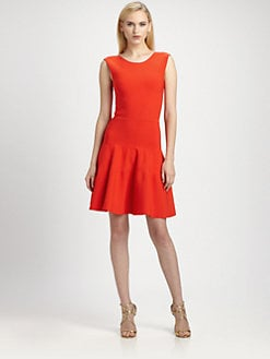 ISSA - Flared Knit Dress