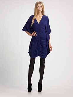 Nicole Miller - Ruched Jersey Dress