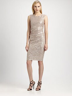 David Meister - Sequined Bow-Back Dress
