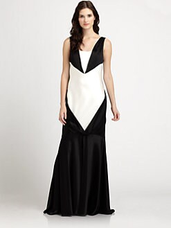 ABS - Colorblock Gown