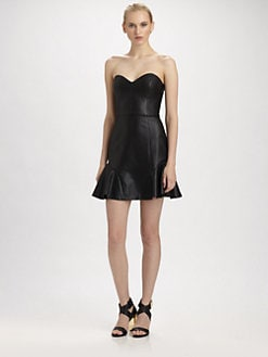 ERIN by Erin Fetherston - Faux Leather Bustier Dress