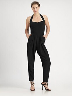 Nicole Miller - Enzyme Washed Silk Jumpsuit
