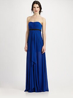 Aidan Mattox - Strapless Jersey Gown