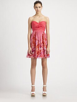 Aidan Mattox - Strapless Silk Dress