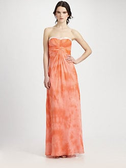 Aidan Mattox - Silk Gathered Gown