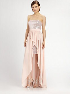 Aidan Mattox - Strapless Sequined Dress