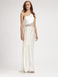 ABS - Asymmetrical Silk Gown