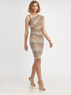 David Meister - Asymmetrical Knit Dress