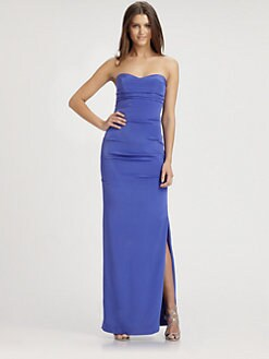 Nicole Miller - Strapless Silk Gown