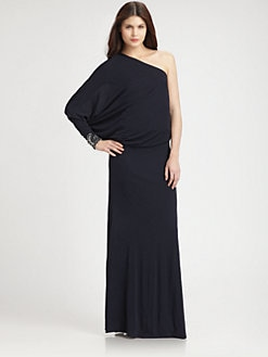 David Meister - Asymmetrical Jersey Gown