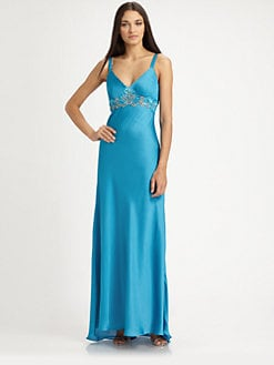 Sue Wong - Beaded Satin Gown