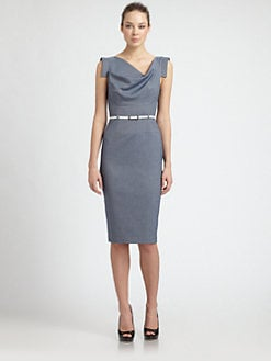 Black Halo - Chambray Jackie O. Dress