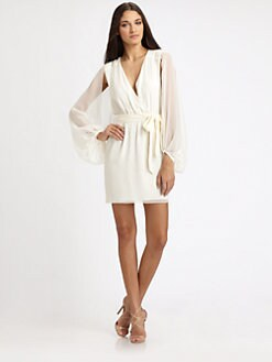 ERIN by Erin Fetherston - Silk Wrap Dress