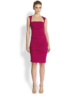 Nicole Miller - Stretch Matte Tuck Dress
