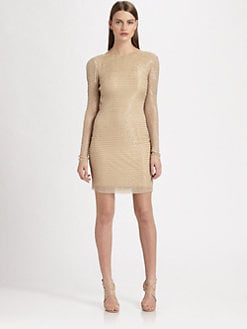 Aidan Mattox - Beaded Cowl Back Dress