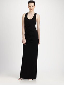 Nicole Miller - Tucked Jersey Maxi Dress